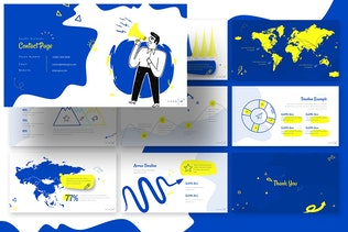 Миниатюра для Шаблон ключевых заKeynote бизнеса Doodle