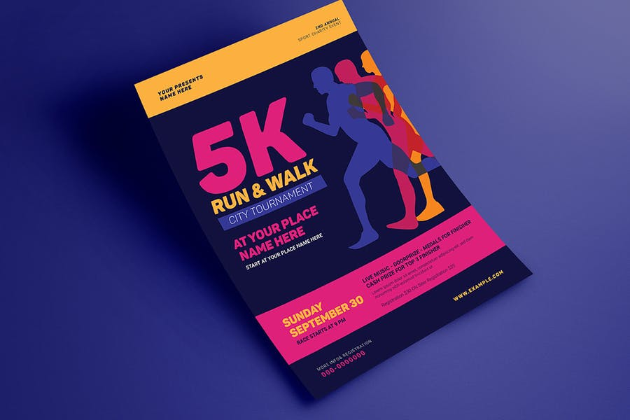 5k Run & Walk Event Flyer - product preview 3