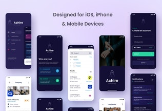 Thumbnail for Job Portal iOS App Design UI Figma & PSD Template