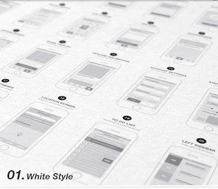 Thumbnail for App Wireframes UI Kit