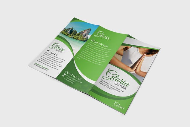 Yoga Class Brochure Template - product preview 1