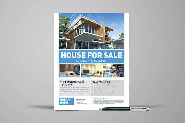 3 Urban Real Estate Flyers - product preview 2