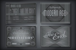 Vintage Hollywood Movie Titles