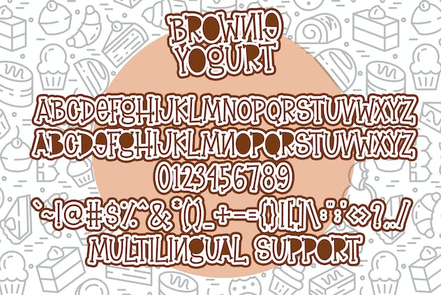 Brownie Yogurt - Fun Serif Font