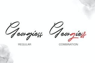 Miniature pour Georgiess Signature | Police Signature élégante