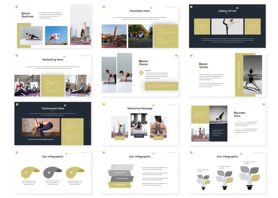 Yogaina - Powerpoint Template - product preview 2