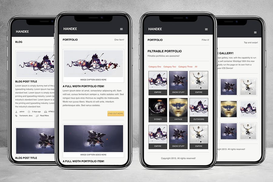 Handee | Versatile Mobile and Tablet Template - product preview 3