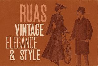 Thumbnail for Ruas - Vintage Style Font