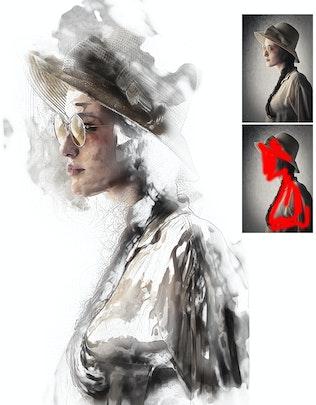 Thumbnail for ModernArt Photoshop Action