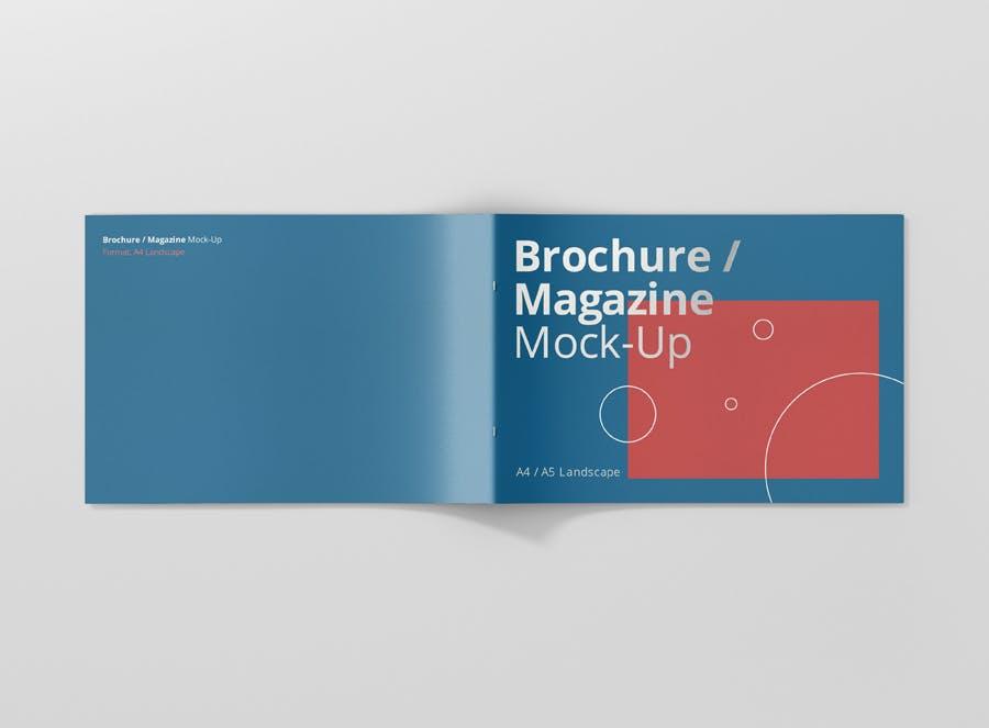 Preview image 7 for А4 Ландшафтная брошюра/Журнал Mock-Up