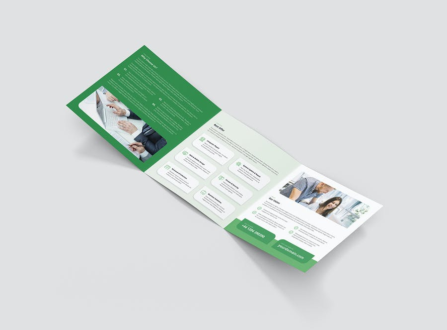 Brochure – IT Services Tri-Fold Square - product preview 4