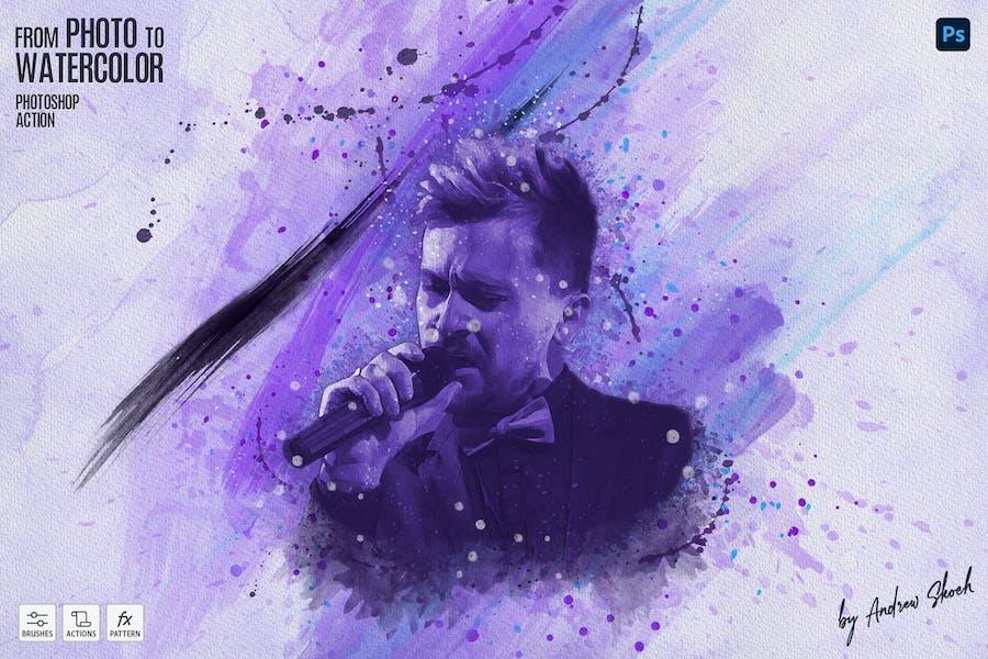 Watercolor 2 - Photoshop Action