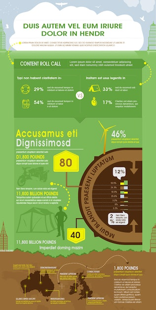 Thumbnail for Green Business Infographics Template