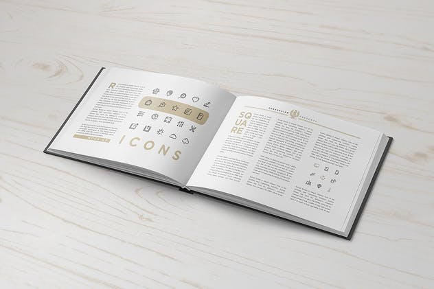 Landscape Book Mock-Up Set 2 - product preview 7
