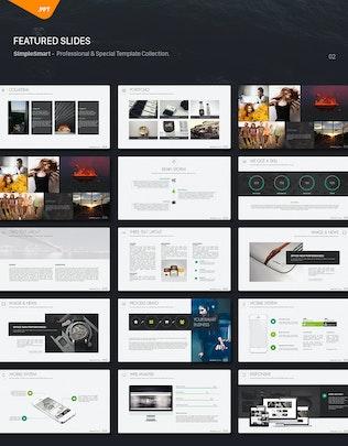 Thumbnail for MonteBiz Minimal Powerpoint Template