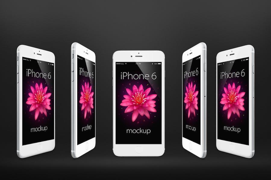 Preview image 2 for iPhone 6 Фотореалистичный Отзывчивый Mock-Ups Vol.2