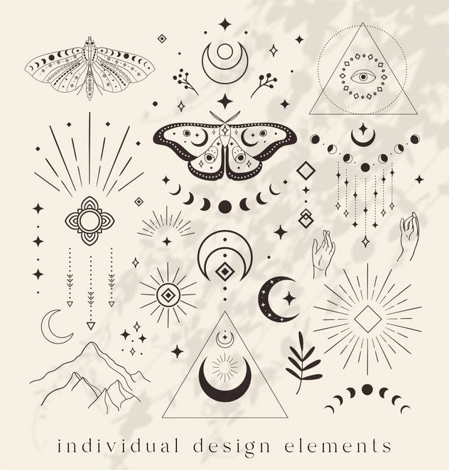 Divine Design Elements. Illustrations. Esoteric. - product preview 1