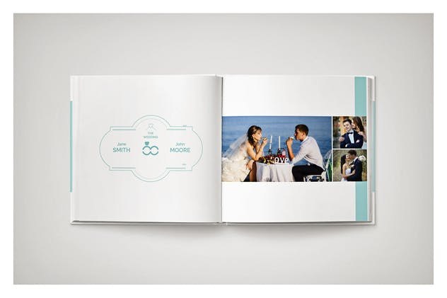 PSD - Minimalist Wedding Album - product preview 12