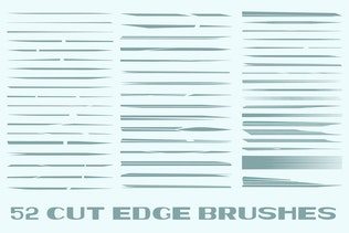 Thumbnail for Cut Edge Brushes for Adobe Illustrator