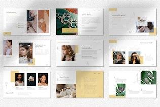 Adelphie  - Jewelry Product Googleslide Template