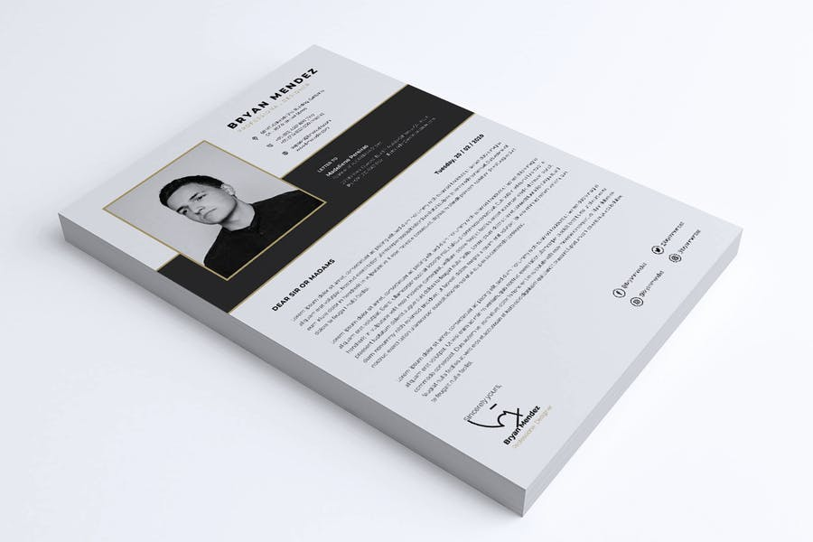 Minimalist CV Resume Vol.42 - product preview 1