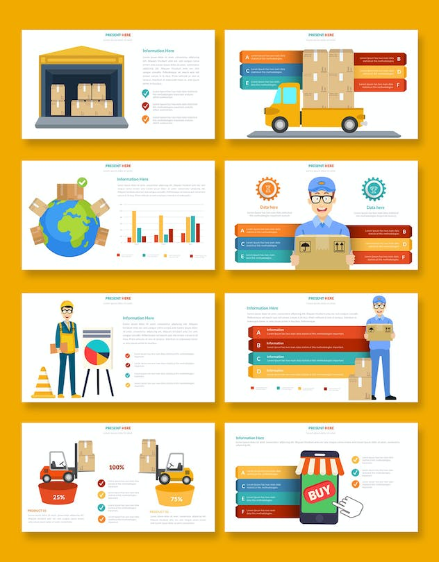 Logistic Infographic Powerpoint - product preview 4