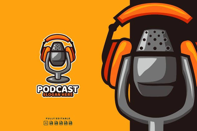 Podcast Mic Logo - product preview 1