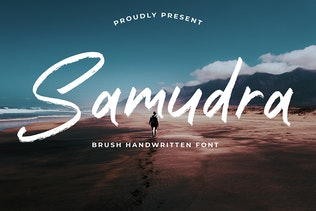 Thumbnail for Samudra Brush Handwritten font