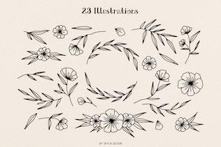 Thumbnail for Ciera watercolor svg font, florals & logos