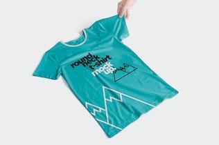 Thumbnail für T-Shirt-Mockups mit Rundhalsausschnitt