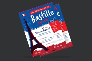 Thumbnail for Bastille Day Flyer Poster