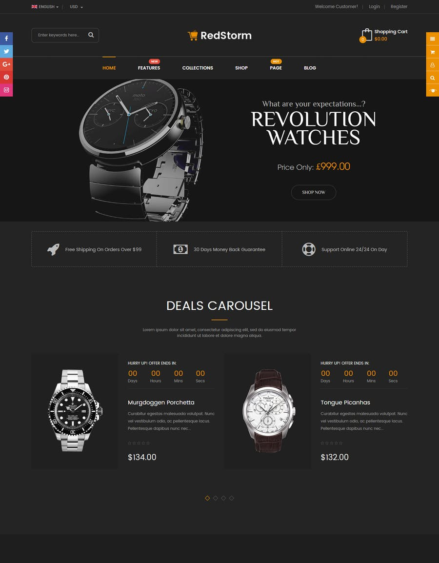 RedStorm - Sectioned Responsive Shopify Theme - product preview 4