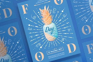 Thumbnail for Food Day Flyer and Poster Template