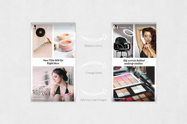 Makeup Animated Instagram Stories - product preview 4