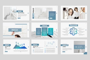 Thumbnail for Lorem Clean Powerpoint Template