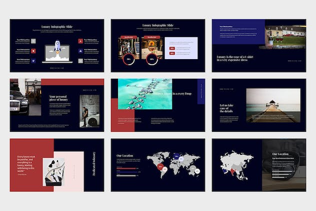 Evoza : Luxury Lifestyle Powerpoint - product preview 1