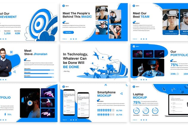 Virty Virtual Reality Powerpoint Template By Slidefactory On Envato Elements