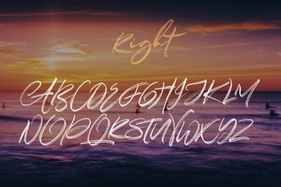 Thumbnail for Right Brush & SVG Font