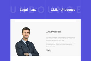 Thumbnail for Legal - Law Unbounce Template