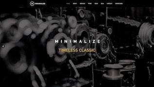 Thumbnail for Minimalize | Minimal Multipurpose OnePage Template