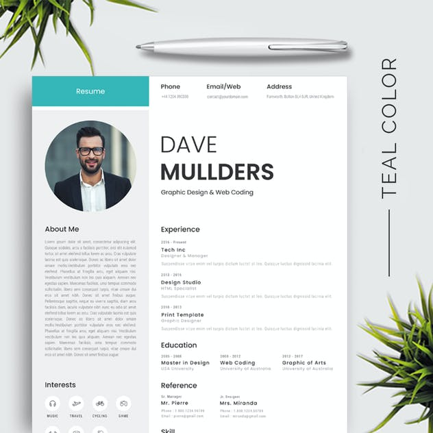 Resume & Cover Letter Template - product preview 1