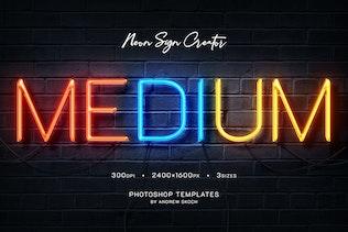 Thumbnail for Neon Wall Logo Creator