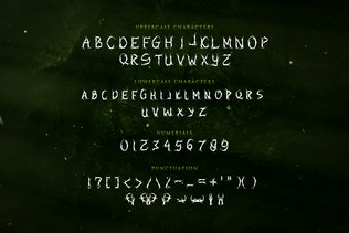 Thumbnail for Elastika - Haunted Hand Drawing Display Typeface