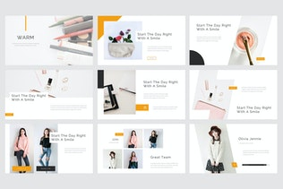 Thumbnail for Warm - Beauty & Cosmetics Google Slides Template