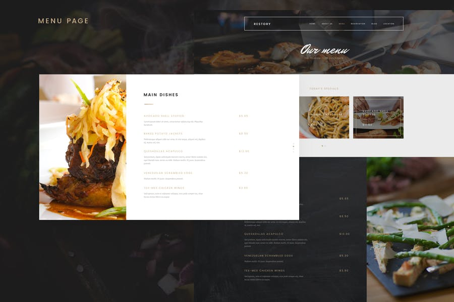 Restory - Restaurant & Cafe Joomla Template - product preview 3