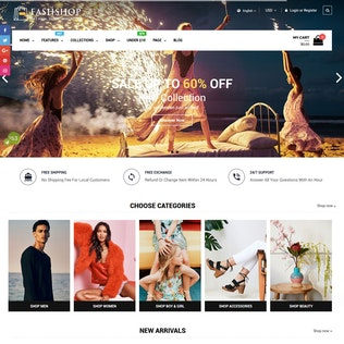FashShop - Drag & Drop Bootstrap 4 Shopify Tema
