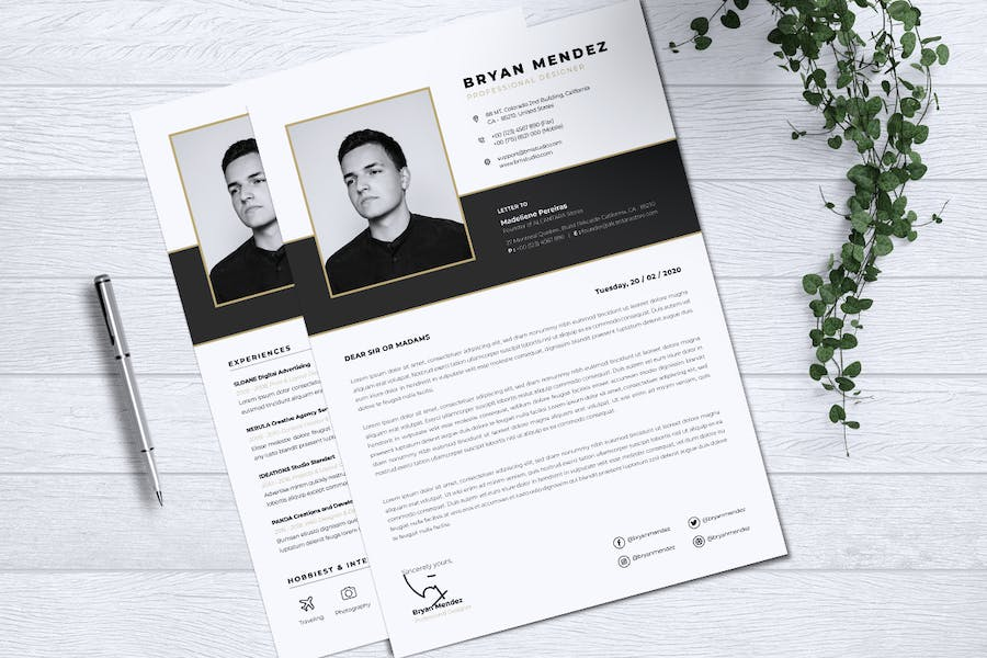 Minimalist CV Resume Vol.42 - product preview 2