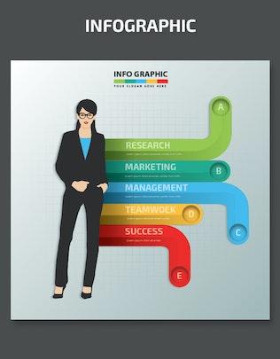 Thumbnail for Minimal Woman infographic Design