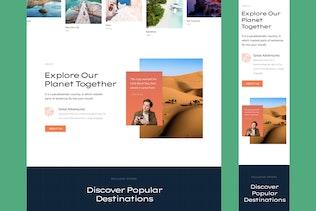 Travel Responsive Landing Page