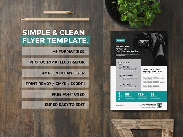 simple flyer for agency - product preview 3